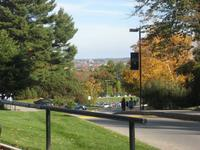 Hill overlooking Baseball Field and Manchester  Fall 2008 by Rebecca Damon